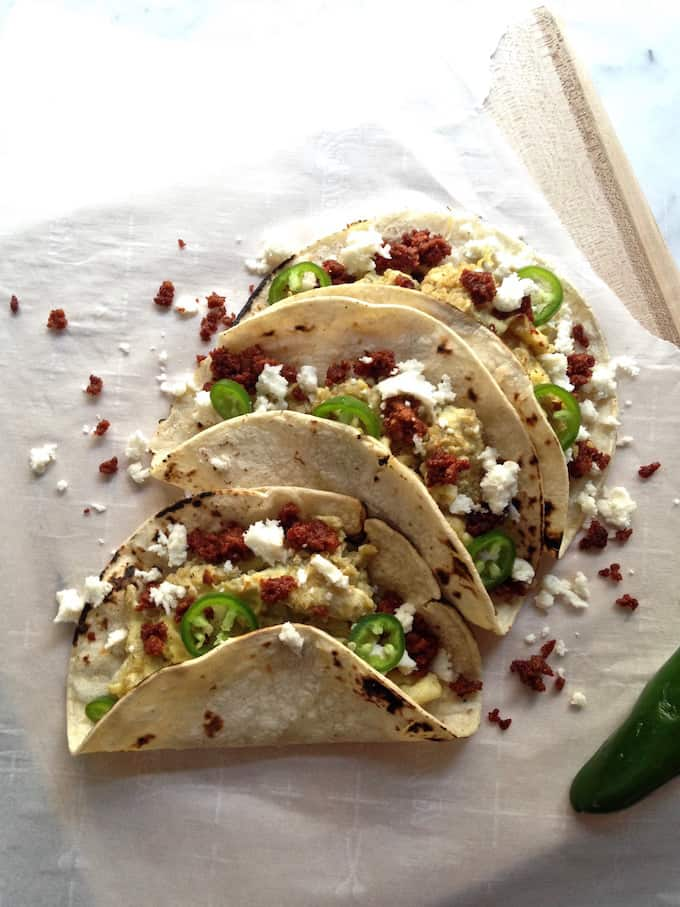 Quinoa and Queso Breakfast Tacos Recipe