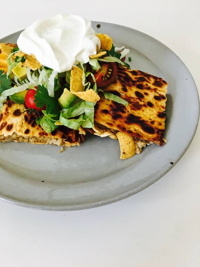 Walking Taco Quesadilla Recipe