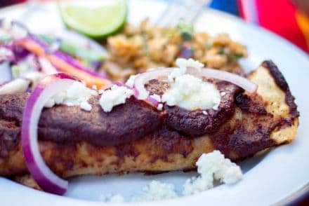 Creamy Chicken Enchiladas with Jamaica Mole Recipe