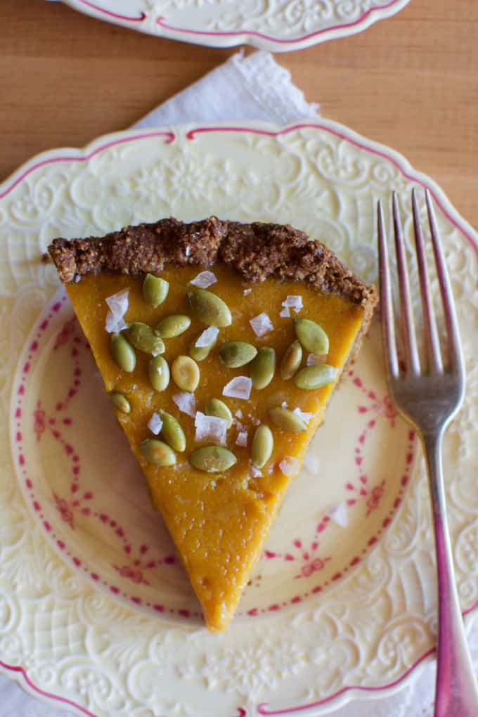 Dairy-Free Pumpkin Pie with Pepita Crust Recipe