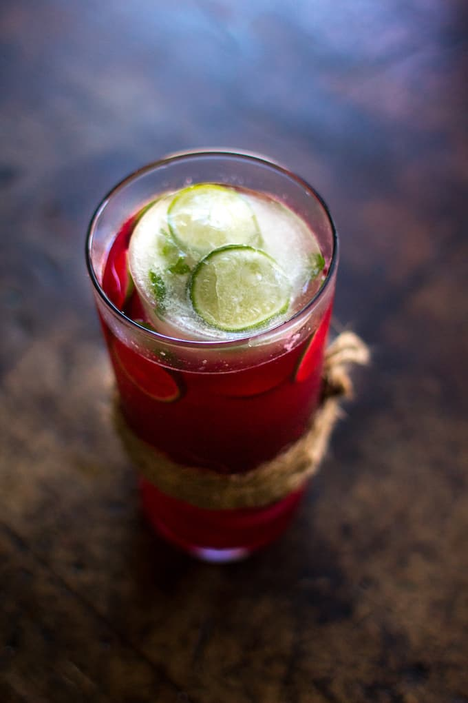 Cranberry Agua Fresca with Fresh Mint and Lime Recipe