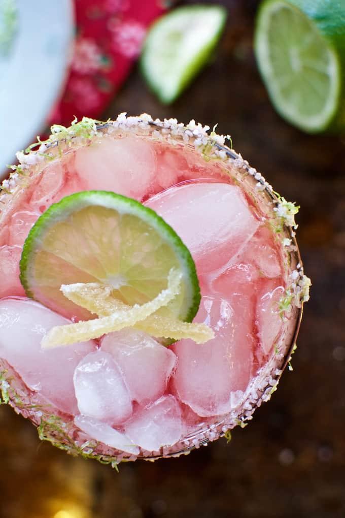 Cranberry Ginger Margarita Recipe @holajalapeno