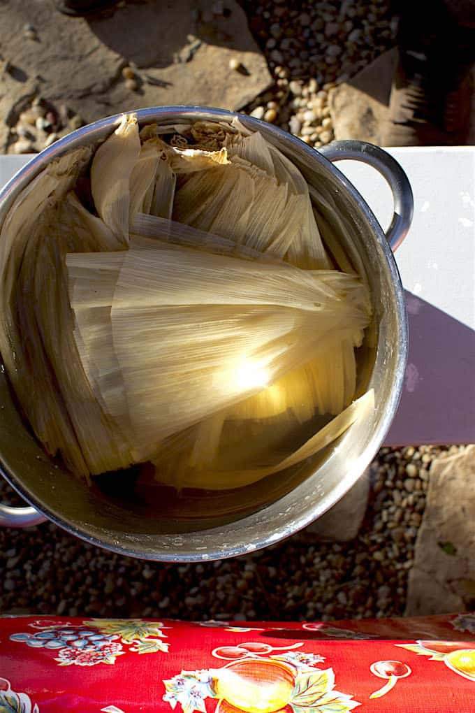 Chicken Tamales with Manchamantel Mole Recipe @holajalapeno