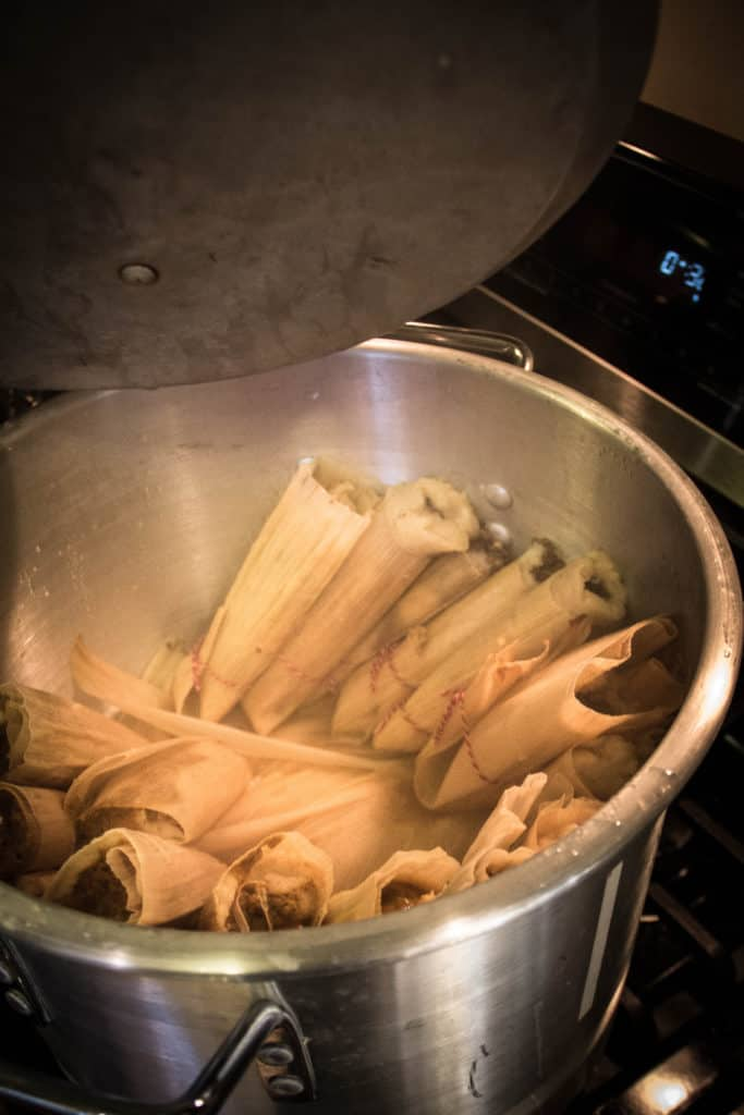 Chicken Tamales with Manchamantel Mole Sauce Recipe @holajalapeno