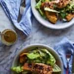 Chili-Lime Broiled Salmon Salad