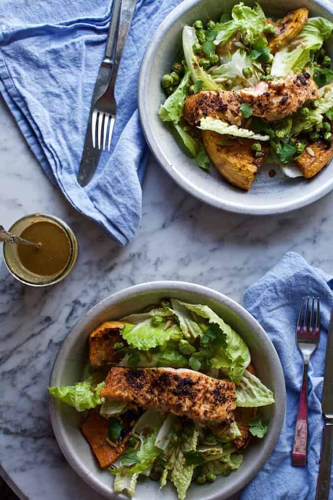 Chili-Lime Salmon Salad @holajalapeno