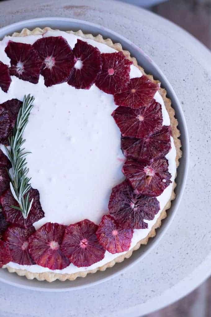 Blood Orange Tart with Vanilla Mascarpone Recipe