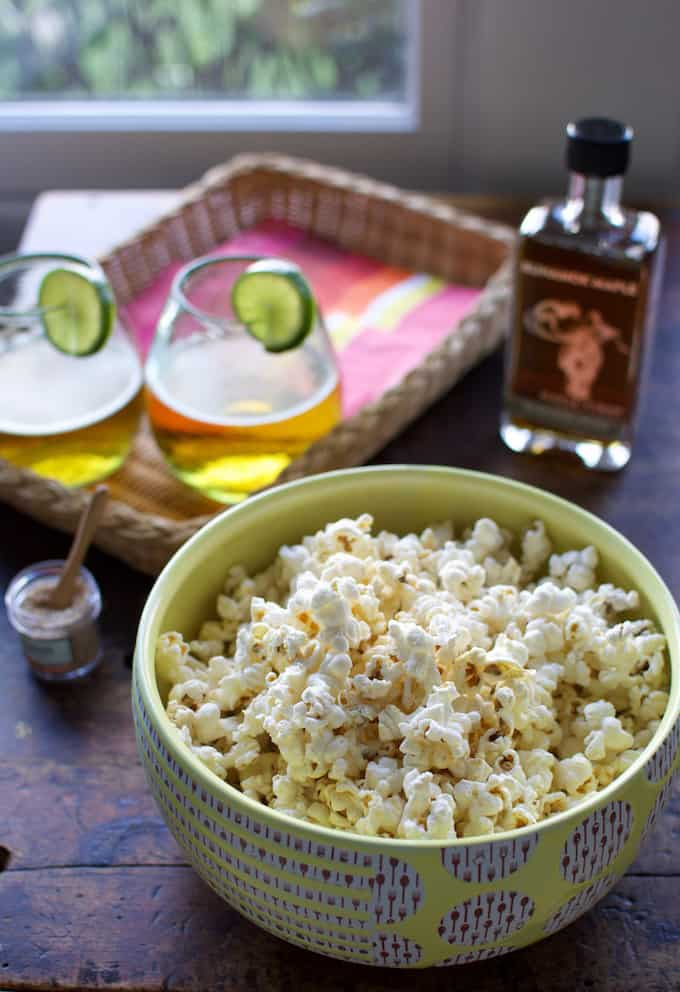 Smoked Maple Butter Popcorn with Habanero Salt Recipe