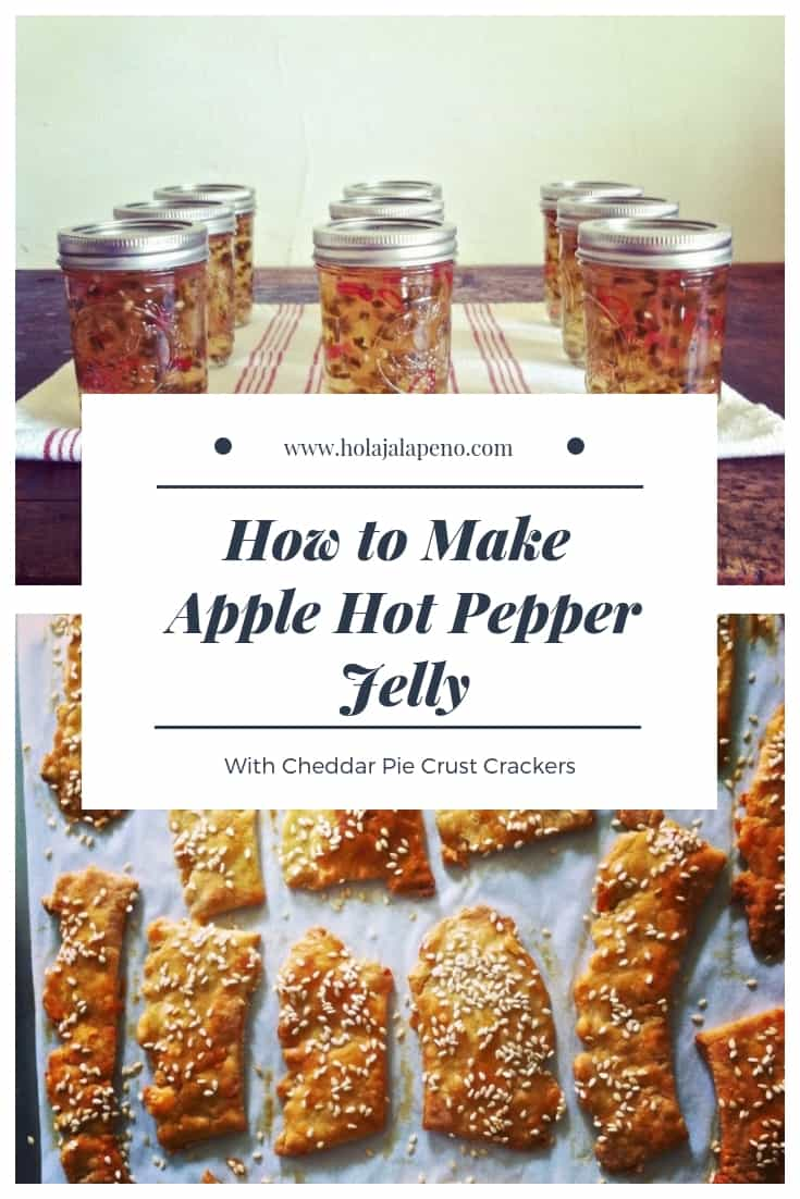 "Photo collage with text overlay that says ""How To Make Apple Hot Pepper Jelly""."