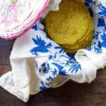 Super healthy homemade sprouted lentil turmeric tortillas are as beautiful as they are delicious made with 2 nutrient powerhouses + they make amazing tacos.