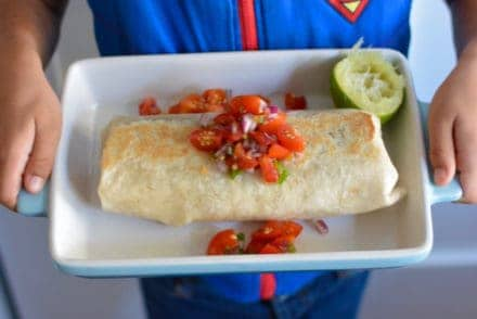 Step-by-step instructions will show you how to make a comfort food classic: the Beef and Bean Burrito. A supersized family favorite for hungry bellies!