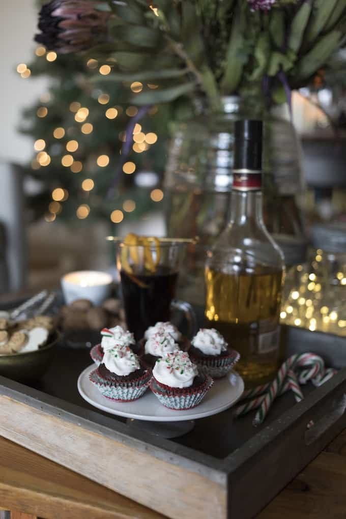 Peppermint Mocha Cupcake Bites combine the flavors of a Christmas time coffee shop favorite, are super easy to make, and look stunning on any holiday table.
