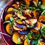 Beet and Persimmon Salad with Candied Peanuts and Smoked Paprika-Orange Dressing