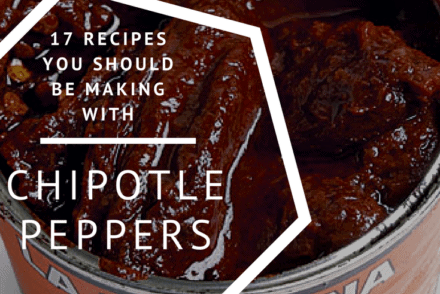 Can of open chipotle peppers in adobo sauce.