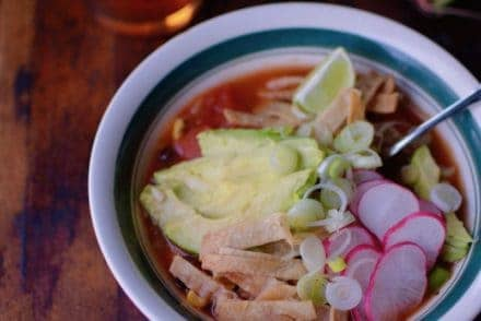 The secret ingredient in this Chipotle Black Bean Tortilla Soup from A Couple Cooks' new book, Pretty Simple Cooking, is the smoky adobo sauce found in a can of chipotles in adobo. Just a spoonful transforms this simple soup into something truly special.