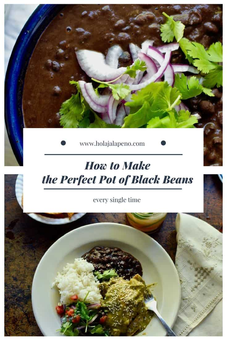These Sofrito Black Beans combine creamy beans with aromatics like onions, garlic, and jalapeños and are the beginnings of everything from soup to refried beans. #blackbeans #healthyLatinfood #healthybeanrecipe