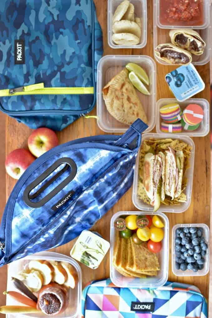 6 Latin Lunch Box Ideas to get you inspired and ready for back to school. With everything from empanadas to burritos there's an idea here for everybody! #backtoschool #packitcool #latinlunch #healthyLatinrecipes #lunchbox