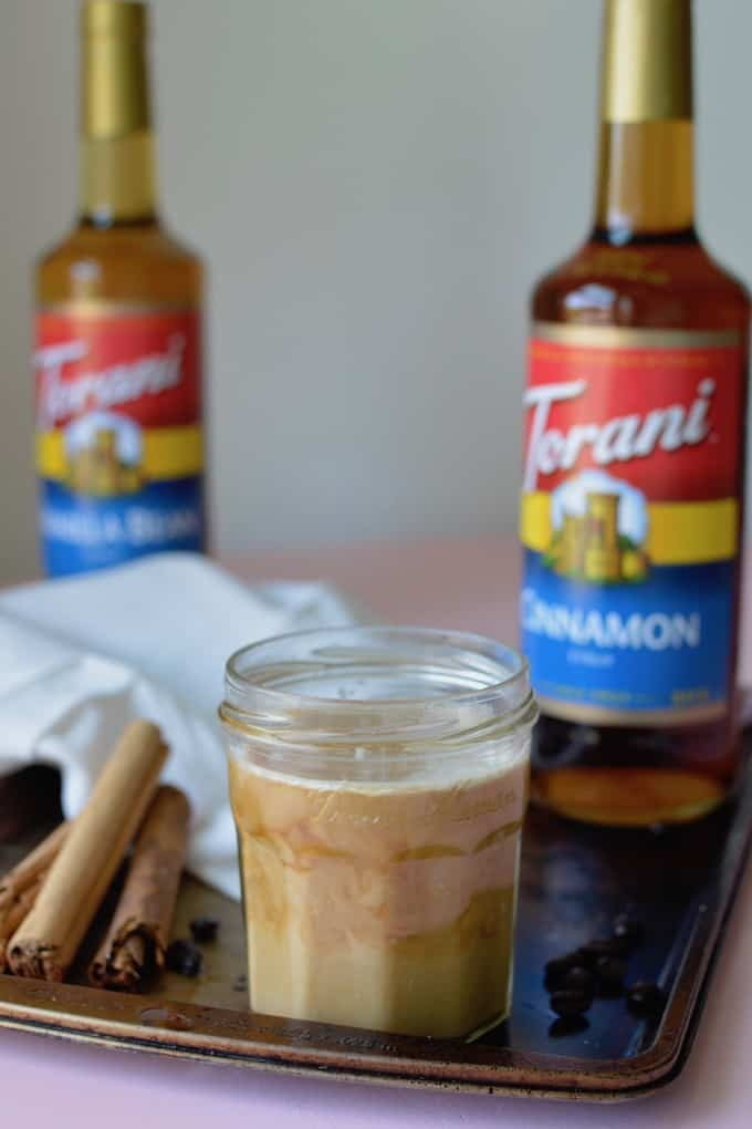 The PSL was so 5 years ago. Start a new trend this fall with this Cinnamon-Vanilla Mexican Coffee. Super easy to make at home and just as delicious. #PumpkinSoBasic #Torani #coffeedrinks #Mexicancoffee