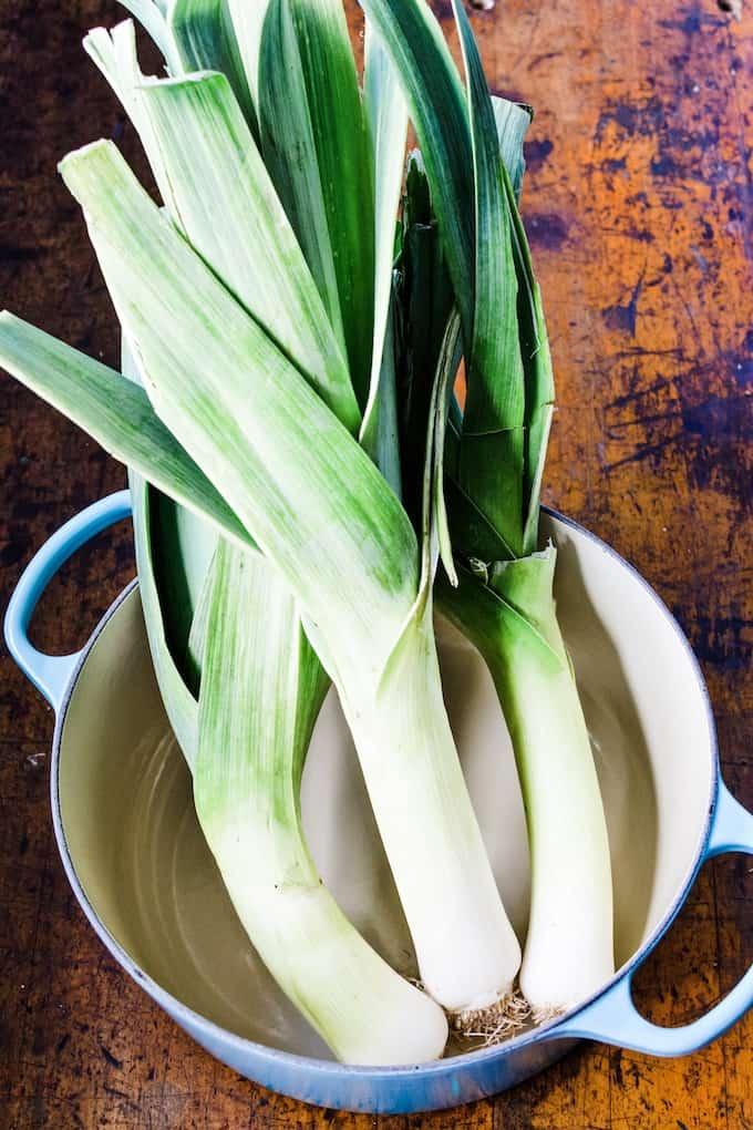 Leeks for Chicken and Leek Soup. #Leeks #Leekrecipes #howtocleanleeks