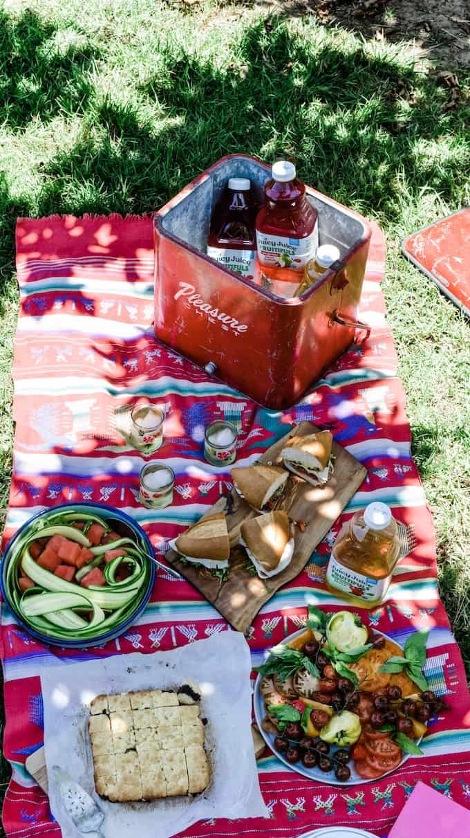 These are the foods you should bring on a picnic. These 5 Picnic Essentials are the foods you'll pack over and over again this summer. A menu so delicious and easy, you'll be picnicking on the regular. #ad #picnic #picnicrecipes #picnicfoods #picnicideas