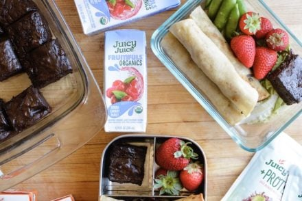 New lunch box recipes for back-to-school. I'm spilling my secret on how I make lunches that never get boring, plus a peek at Juicy Juice's newest drinks! #ad #juicyjuice #lunchboxideas #holajalapeno #lunchboxideaskids #lunchboxrecipes
