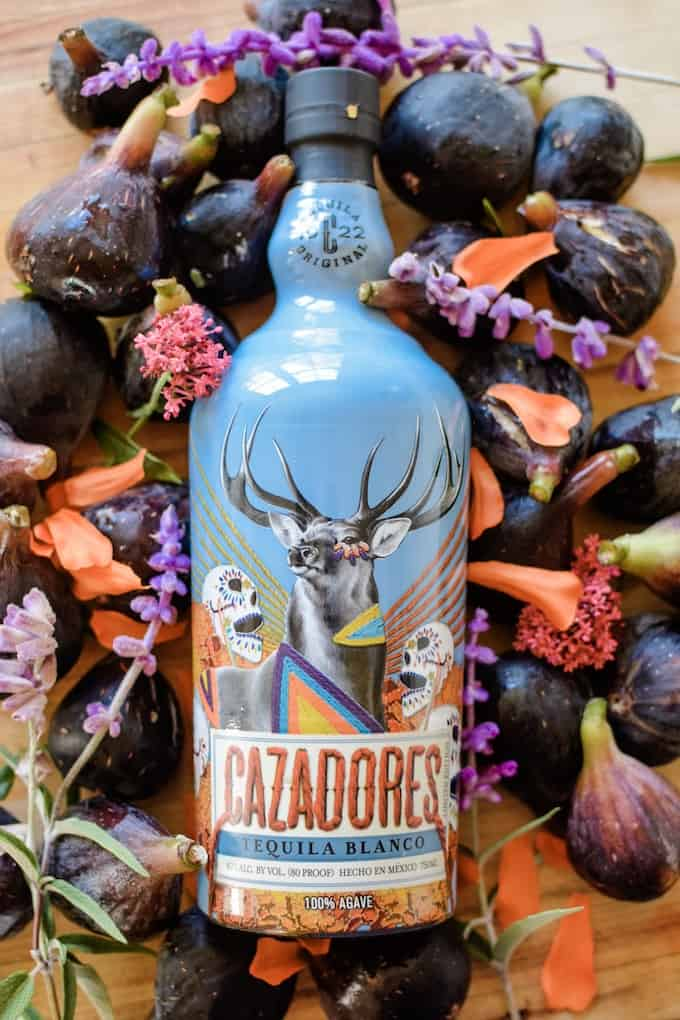 Special edition Tequila Cazadores bottle designed by artist Victoria Villasana for Día de los Muertos. #holajalapeno #ad #losaltosamigos #tequila