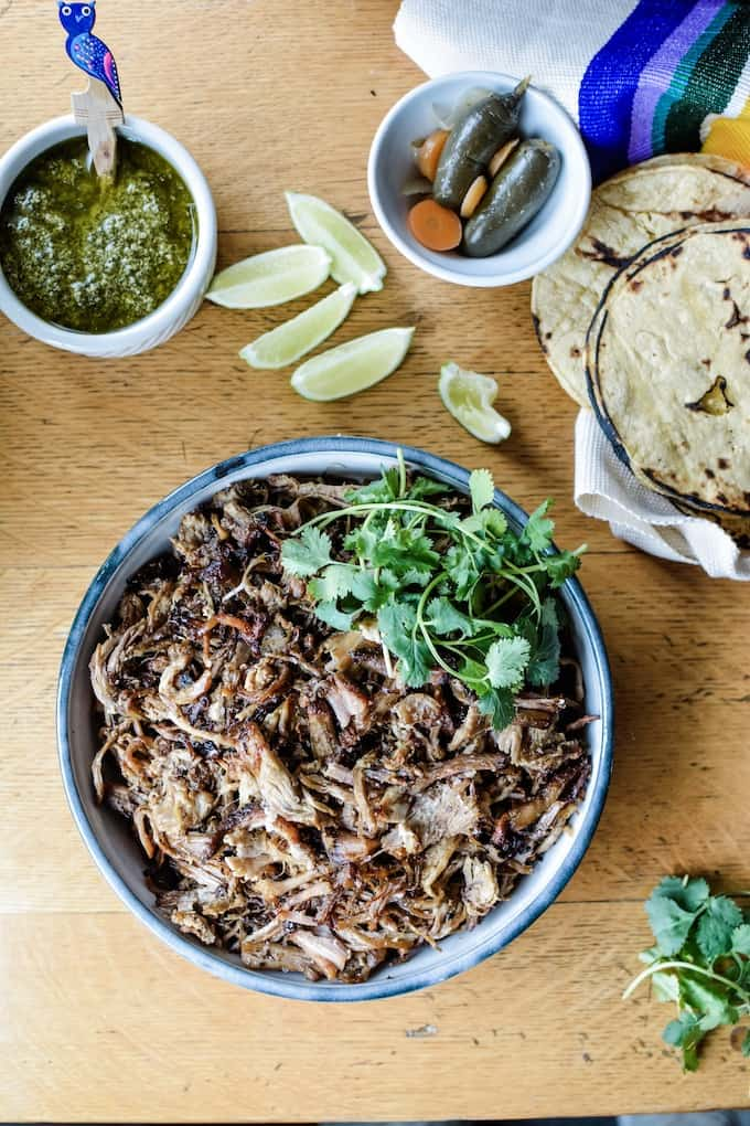 #ad| The world's BEST Instant Pot Carnitas recipe with the ultimate crisp to tender factor. #holajalapeno #instantpot #porkcarnitas