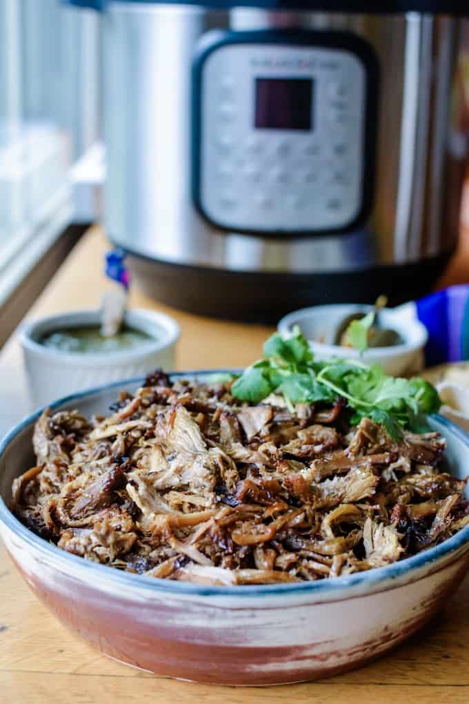 #ad| The newest addition to my kitchen is a pressure cooker plus an air fryer from Instant Pot. It saves time and is healthier, also saves energy too! #instantpot #holajalapeno #porkcarnitas