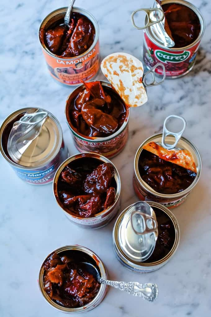 What to make with that open can of chipotle peppers in your fridge plus the best one to buy! #chipotles #chipotlerecipes #chipotlepeppers #chipotlesinadobo