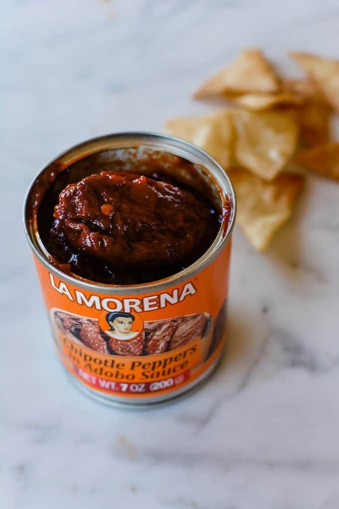 The runner up in my chipotle peppers in adobo sauce taste test. Click here to find out which ones are my favorite! #chipotles #chipotlerecipes #chipotlepeppers #chipotlesindobo #cannechipotles