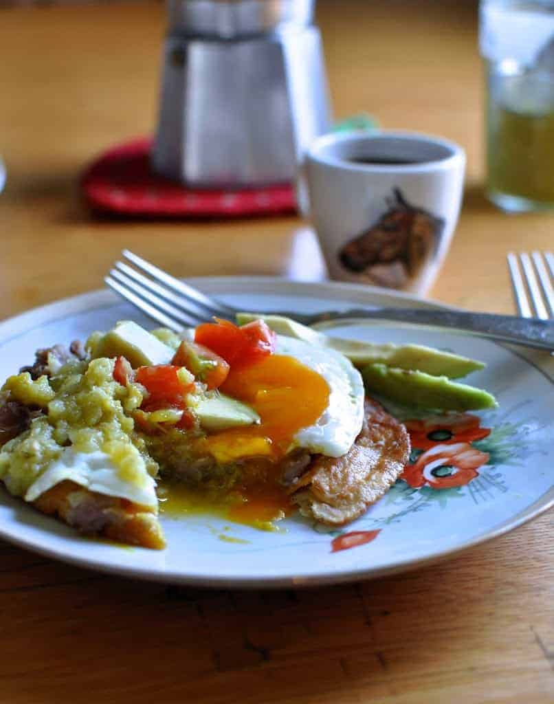 Easy Mexican dishes like these Huevos Rancheros can be made simply from ingredients you already have in your fridge and pantry. Click here for 12 more ideas!