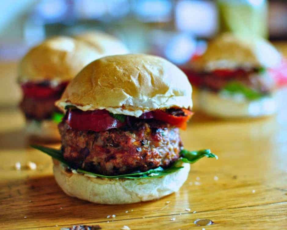 Easy Mexican Recipes like these Mexi Turkey Burgers are simple and made with ingredients you already have in your pantry! Click here for 12 more ideas.