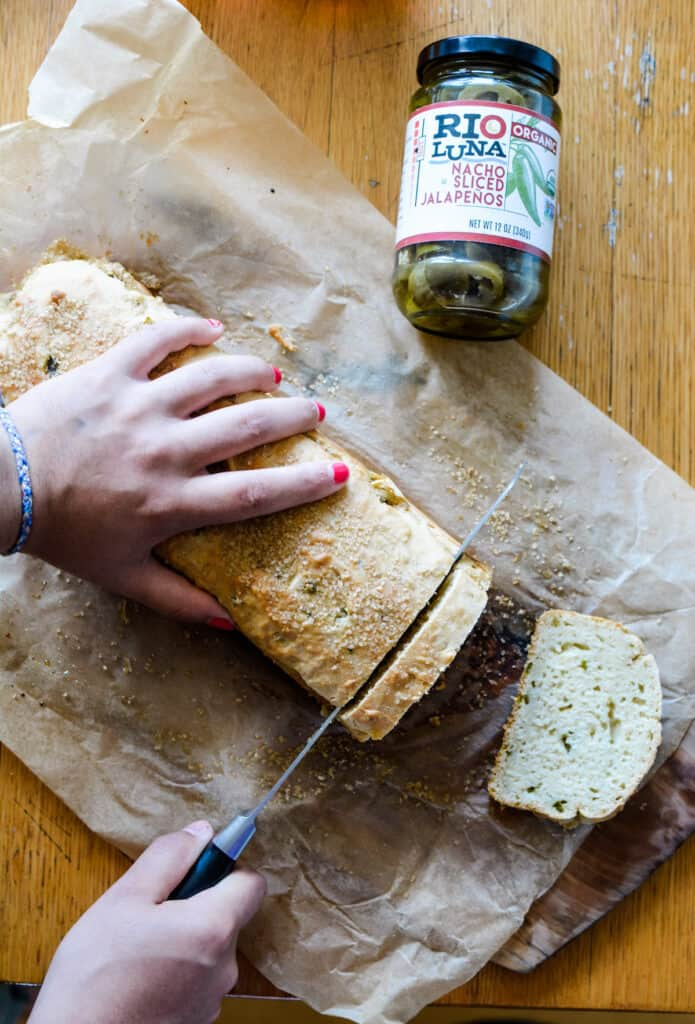 The easiest no-yeast bread recipe you'll ever make! Jalapeño Beer Bread is essentially foolproof—the beer does all the work! #beerbread #breadrecipe #easybread #noyeastbread