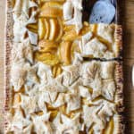 Fresh Peach Slab Pie with Buttery Nutmeg Crust