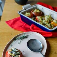 Orzo and Ham Stuffed Vegetables Recipe