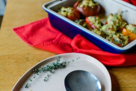 These Orzo and Ham Stuffed Vegetables are a favorite summertime side dish to go with Mexican carne asada, grilled fish, or as a dinner on thier own!