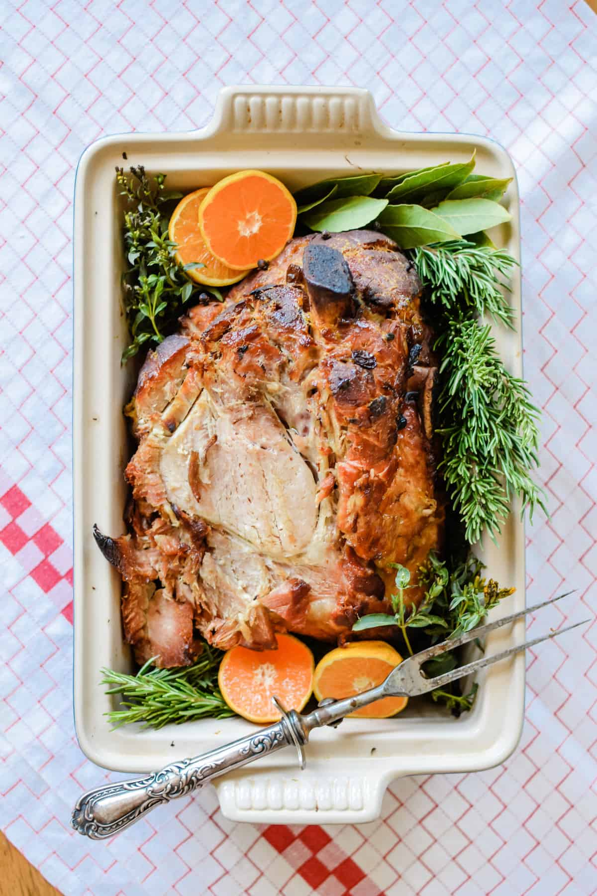 The first rule of any holiday meal is: There Will Be Leftovers! Whether it's Christmas or Easter or many holiday brunches in-between, a big, gorgeous roast ham sits centerstage. But what are we going to do with all the leftovers? Here are our 5 BEST Leftover Ham Recipes that will have it gone in no time! We've got recipes for breakfast, lunch, and dinner with everything from a cozy soup to an indulgent breakfast casserole. #leftoverham #leftoverhamrecipes #ham #hamrecipes