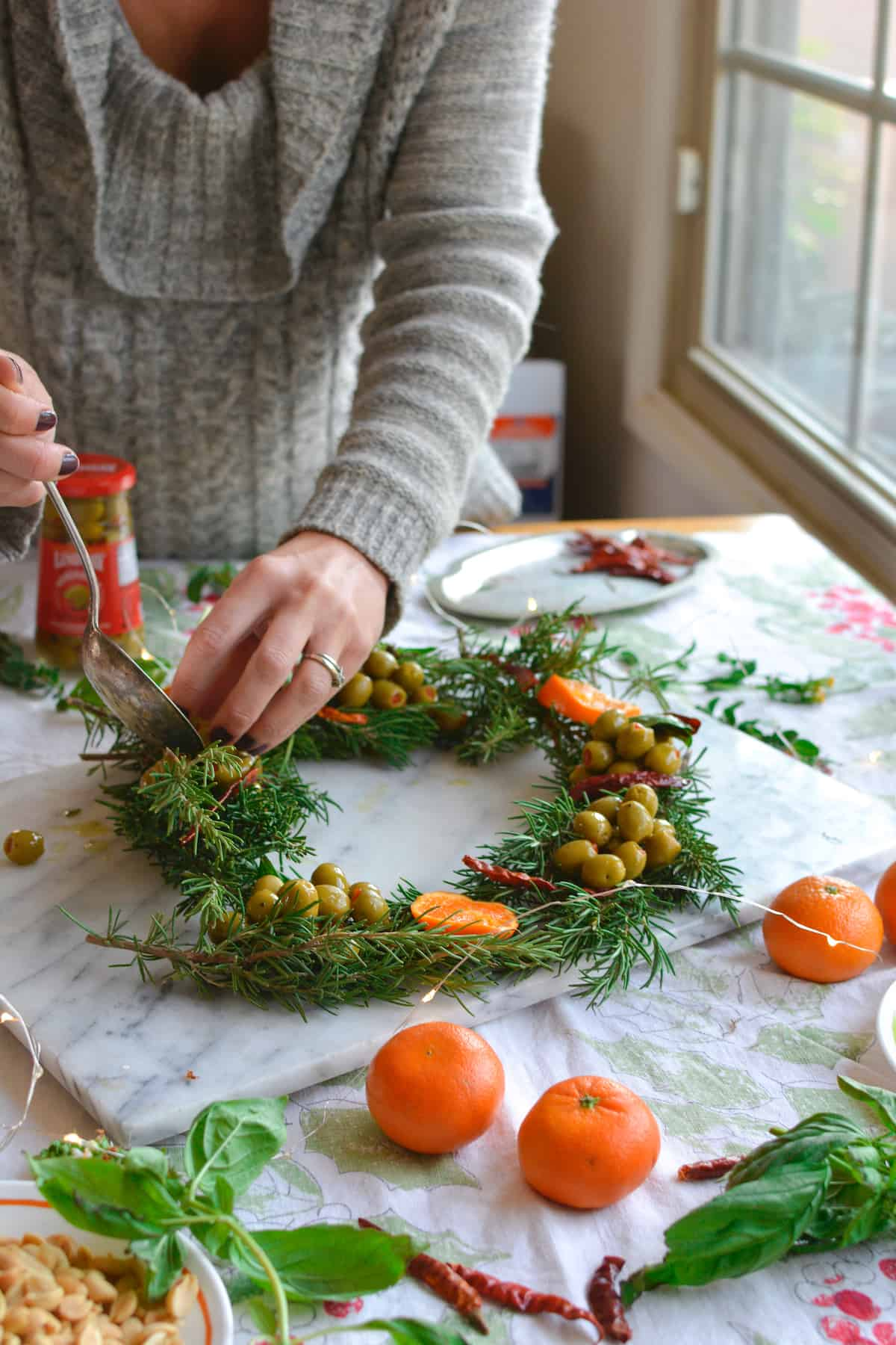 The Ultimate Holiday Appetizer A Marinated Olive Wreath