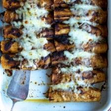 Mushroom and Cheese Vegetarian Enchiladas